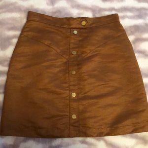 Camel Velvet Skirt